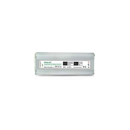 Vision-EL 775385 Alimentation pour LED 250W 24V DC Lumineux IP67 Aluminium, 250 W, Gris, (L (L x I x H)-253 x 90 x 45 mm