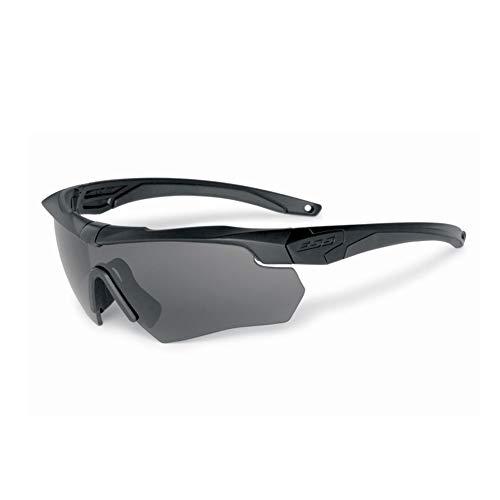 ESS Gray Safety Glasses, Scratch-Resistant, Wraparound Black, One Size