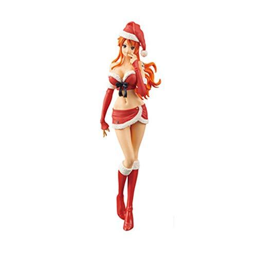 Zfggd Modelo de Juguete de Anime One Piece Decoración Charm con Brill
