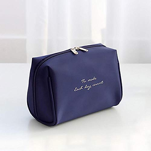 YAOUYYYSN Neceser de mano pequeña, impermeable, gran capacidad, portátil, bolsa de viaje, bolsa de almacenamiento cosmético sencilla para llevar a la marina