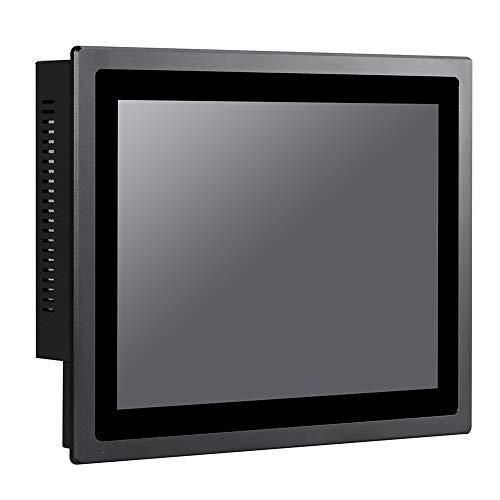 "12"" LED Industrial Panel PC, 10 Points Capacitive Touch Screen, Front Panel IP65, Intel J1900, Windows 7/10 / Linux Ubuntu, VGA/3USB2.0/USB3.0/LAN/3COM/FANLESS, (8G RAM/512G SSD/1TB HDD)"