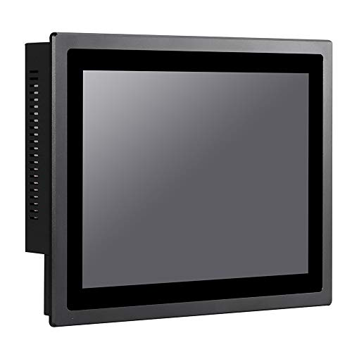 12 Inch IP65 Industrial Touch Panel PC,All in One Computer,10 Points Capacitive TS,Windows 7/10,Linux,Intel Core I5 3317U,(Black),[HUNSN WD13],[2RS232/VGA/LAN/6USB2.0/Audio],(240G SSD/1TB HDD)