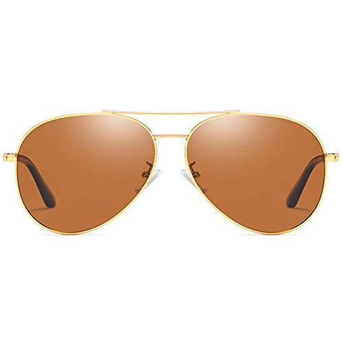 QCSMegy Gafas de Sol Película De Color Material De Metal Polarizado. Las Gafas De Sol UV400 Tienen Tendencia A Las Gafas De Sol De Conducción Azul/Marrón/Plata/Rosa for Hombres.