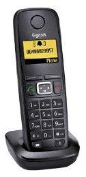 Gigaset AS320H / AS320 H Mobilteil inkl. Ladeschale in schwarz zum Ersatz / Erweiterung