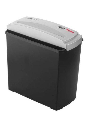 Geha S5 - Triturador de papel, destruye los documentos, para el hogar y la oficina, corte en tiras para la protección de tu privacidad, papel, tarjetas de crédito, CD, compacto 305 x 165 x 305 mm