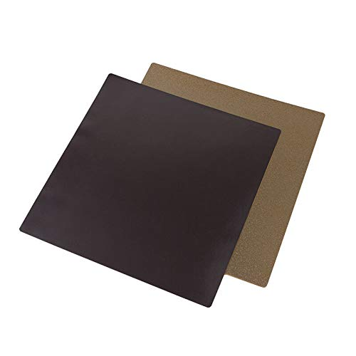 RLJJCS 310x310mm Double-sided Coated PEI Powder Steel Plate + Magnetized B Side Printing Platform Airfoil for CR-10S 3D Printer