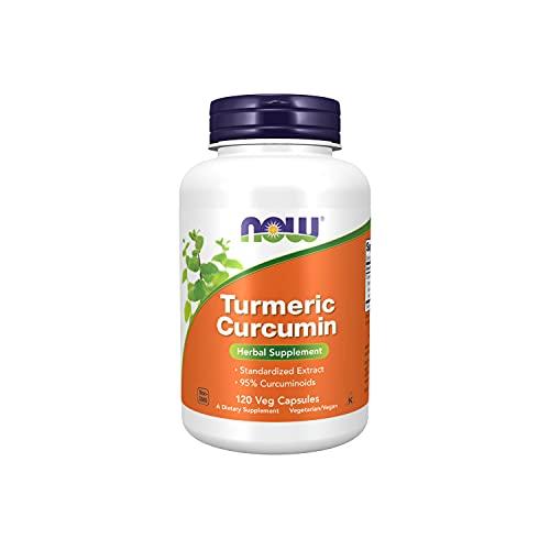 NOW Curcumina Suplemento de Hierbas 120 Cápsulas de Verduras 120 g