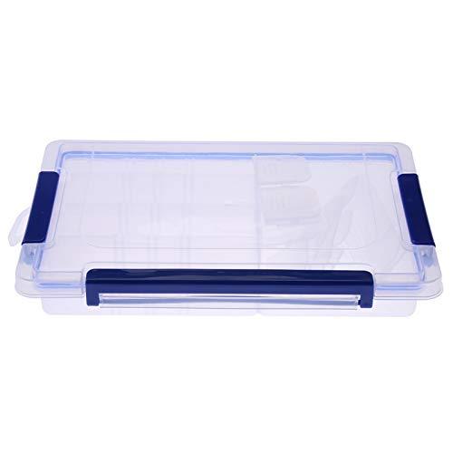 Okuyonic Caja de Almacenamiento de plástico Caja de Ranura Transparente Caja de joyería Compartimiento de Cuentas Contenedor Herramienta para Pendientes(Medium 27cm*18cm*5cm)