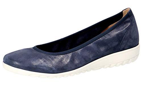 CAPRICE 22161-22 Damen KlassischeBallerinas,Flats,Sommerschuh,klassisch elegant,Wechselfußbett,(812) Navy Pearl SUE,40 EU