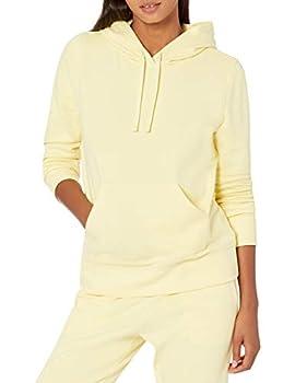 Amazon Essentials Women s Fleece Pullover Hoodie Light Yellow Large