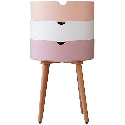 TXXM® Herstellung Nachttische Modernes Massivholz Nacht Beistelltisch mit starken Tragfähigkeits for Schlafzimmer, Studie, Etc. Praktische Möbel (Color : Pink)