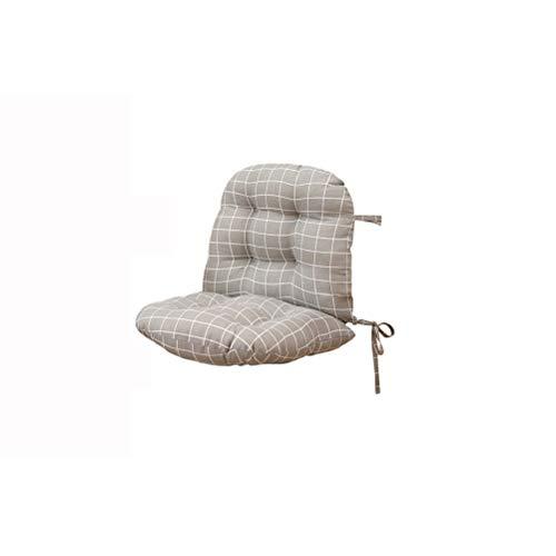 WNDRZ Cojín De Respaldo De Una Pieza para El Respaldo del Asiento Almohada con Lazos Diseño De Cremallera para Silla Caqui Decoración del Hogar