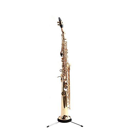 Chyuanhua Saxophon Gerade Sopran Saxophon BB Sopran Saxophon Bronze lackiertes Goldsaxophon Geeignet für Studenten und Anfänger (Farbe : As Shown, Size : One Size)