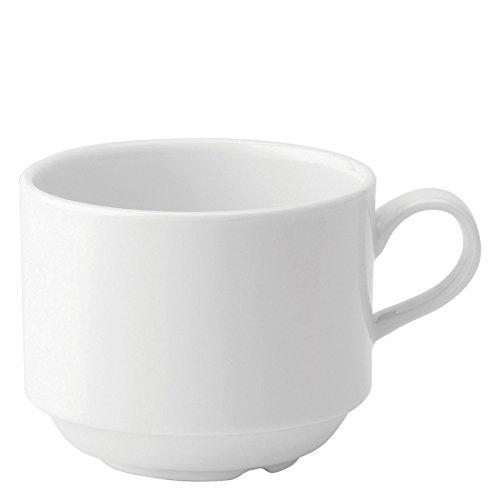 Utopia Anton Noir en porcelaine fine Z03074–000000-b01006 empilage Tasse, 7,5 g (lot de 6)