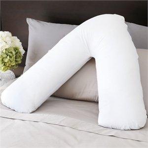 Mousse à mémoire de forme orthopédique en forme de V Taie d'oreiller d'allaitement Grossesse Dos Coussin de support