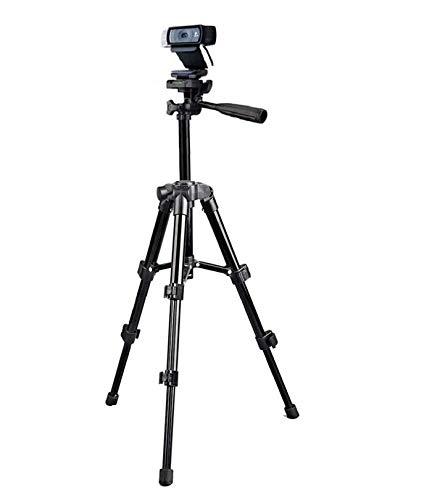 Trépied pour webcam Logitech C920, support pour webcam Logitech Brio 4K, C925e C922x, C922, C930e, C930C920, C615 – 65cm de hauteur – Noir