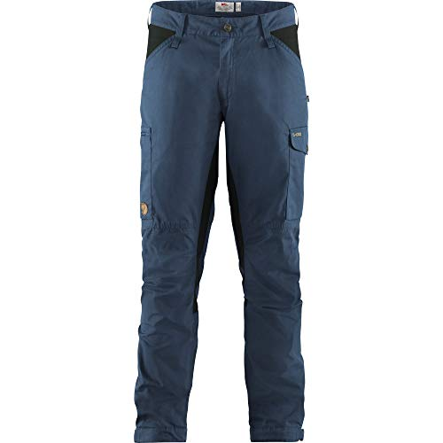 Fjallraven Kaipak Trousers M Lange Trekkinghose für Herren L Blau (Onkel Blau-Dunkelgrau)