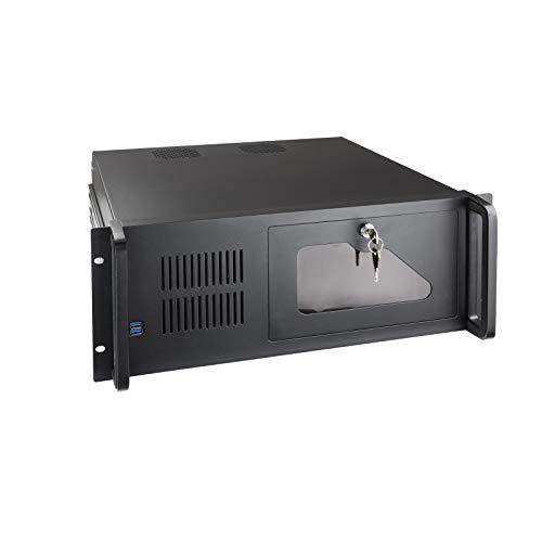 """Tooq RACK-406N-USB3 - Caja para Ordenador (para Rack de 19"""" 4U, Formato ATX Cierre Frontal con Llave, 2 x USB 3.0)"""