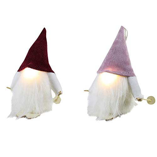 YueLove Weihnachtsmann Puppe glühend gesichtslose ältere kreative Desktop-Dekoration Familie Weihnachtsfeier Weihnachtsbaum Dekoration 6.69X4.72x3.93inch