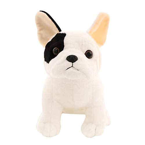 Niedliche Sitzende Bulldoggenpuppe, Plüsch Gefüllte Umarmungskissenspielzeug, Maskottchen-Schattenhund, Kindergeschenk 27Cm Hund