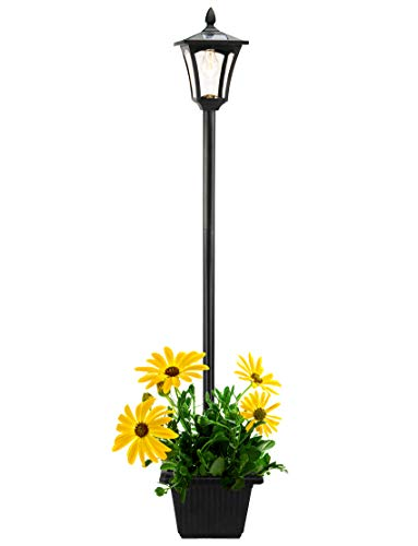 Solar Lamp Post Lights Outdoor with Planter, 69