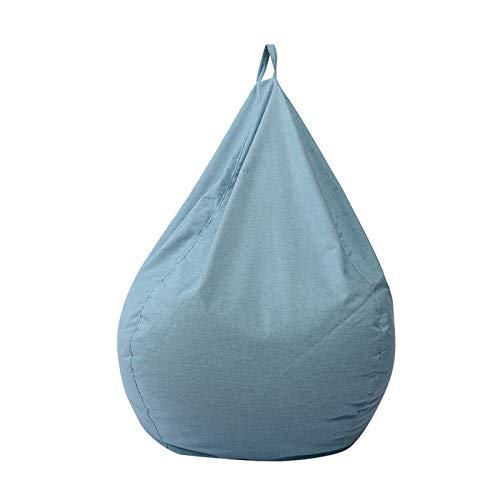 AGVER Sitzsack Stuhlbezug Für Erwachsene Und Kinder, Ohne Füllung, Plüschtier-Organizer Für Kinder (Größe: S-XL) 11 Farben,Light Blue,XL