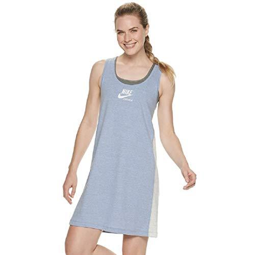 Nike Women's Sportswear Gym Vintage Dress (Indigo Fog Sail, Medium)