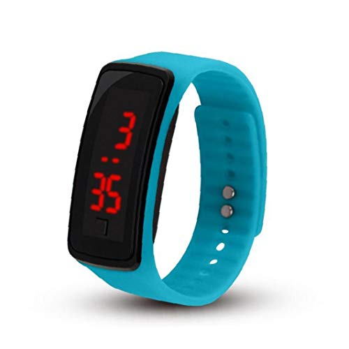 Unisex Watch LED Digital Watch with Silicone Armband Sport Wrist Watch Waterproof for Boys Girls Bracelet Watch Light Blue(Battery Included) Exquisite and Beautiful Decoration