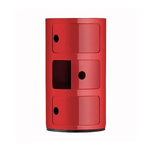 Kartell 496710 - Mueble de almacenaje con 3 Puertas, Color Rojo