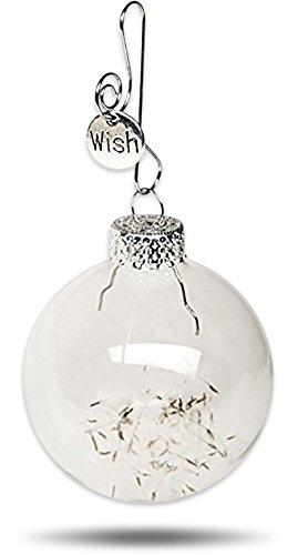 Remember Making a Wish on a Dandelion ? Easter Wishes Keepsake Glass Globe Ornament Make a Wish Gift by Dorinta