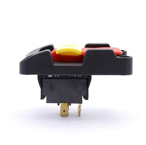 WEKOW HY18-32 4 Pines 250V 16A 125V 20A 2HP DPDT Interruptor De Bloqueo De Seguridad Con Botón Pulsador Para Máquinas Herramientas