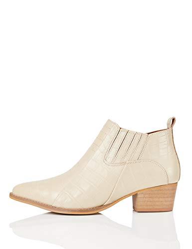 FIND Shoe Boot Botas Camperas, Marfil (Bone Croc), 39 EU