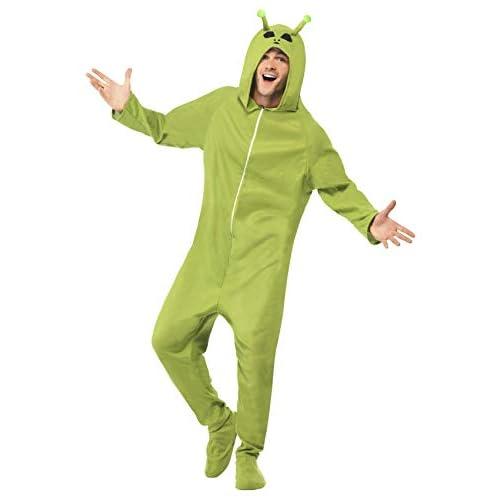 SMIFFYS Costume Alieno, Verde, comprende Tuta Intera con Cappuccio