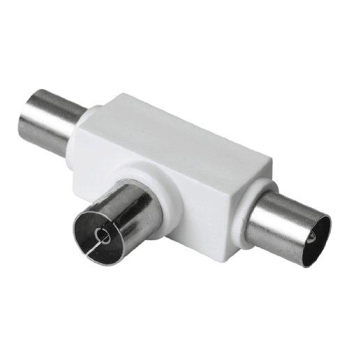 Hama Antennen-Verteiler (Koax-Kupplung, 2 Koax-Stecker) [Amazon Frustfreie Verpackung]
