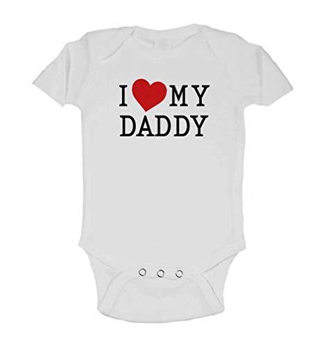 I Love My Daddy Baby Body Strampler aus hochwertiger 100% Baumwolle liebevoll Bedruckt, 3-24 Monate (Weiß, 24M (92))
