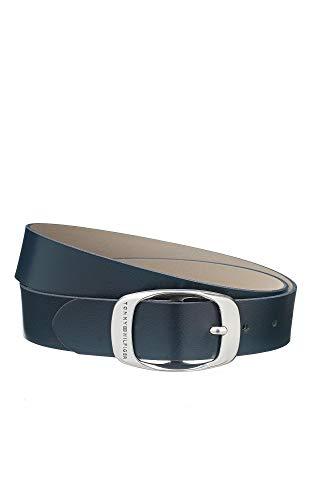 Tommy Hilfiger damesriem SM MARIE Belt blauw AW0AW01001-001 jeansriem lederen riem riem