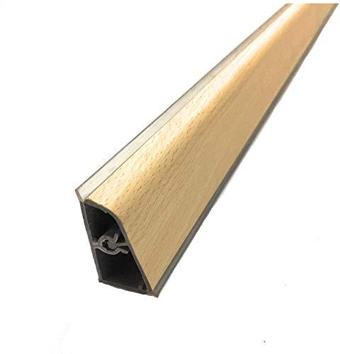 Alzatine per piani da cucina, spalletta per top, alzatine, lunghezza 2 metri completa di finali in Pvc (Faggio)