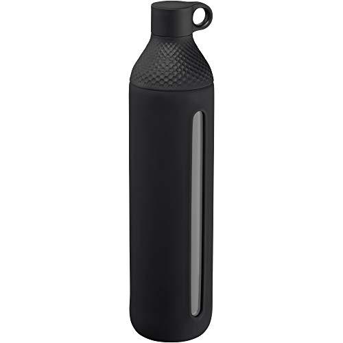 WMF Waterkant Teeflasche Glas 750ml, Borosilikatglas, Trinkflasche mit Schutzhülle, Glasflasche Kohlensäure geeignet, Drehverschluss, auslaufsicher