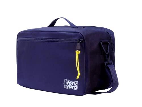 Maleta de Mano 40x20x25 Ryanair Made in Italy Bolsa de Viaje con Correa y Enganche Trolley de Cabina pequeña, Ligera y Resistente. Maleta de Fin de Semana con Organizador. (Azul)