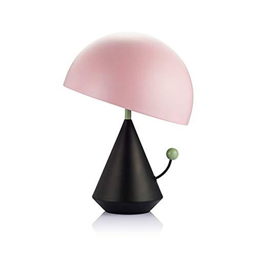 LWX Iluminación De Personalidad LED Lámpara De Mesa De Seta Creativa/Sala De Estar/Dormitorio/Mesita De Noche Decoración De Escritorio For Habitación De Niños Lámpara De Mesa (Color : Pink)