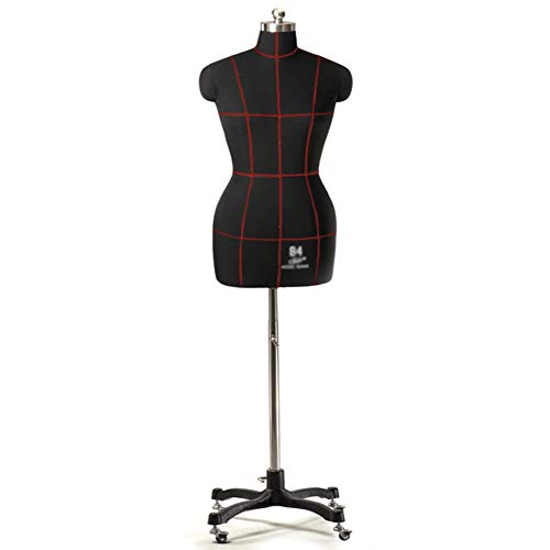 LXFA Maniqui Costura Modista Busto Torso de maniquí de Costura Femenino con Ruedas - Maniquí de Sastre Mujer Talla Grande para Shop Bedroom Stores Studios - Altura Ajustable
