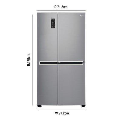 Frigorífico estilo americano LG GSM760PZXZ, 4 puertas, acero ...