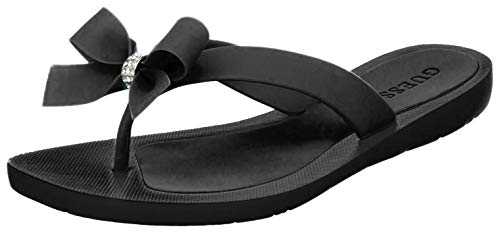 GUESS Women's Tutu Sandal,Black Eva,6 M US
