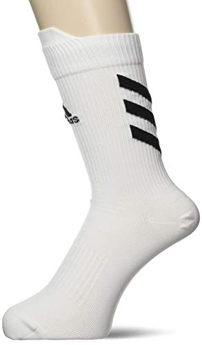 adidas Ask Crew UL S Socks, White/Black/Black, M