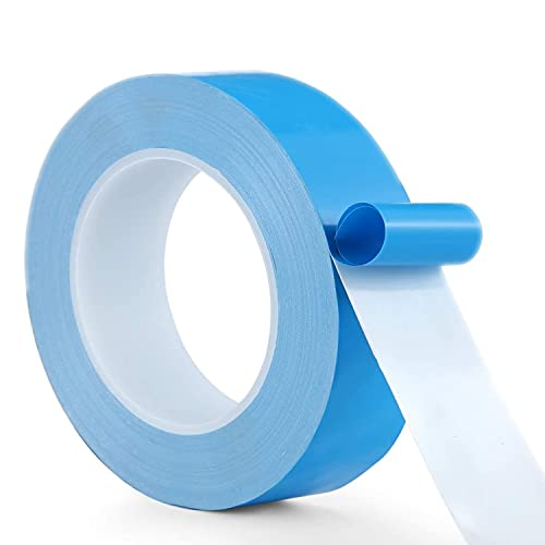 AVNTKER Thermal Tape 30mm x 25m Double Side Adhesive Super Strong Sticky Heat Transfer Pad Non Conductive Heatsink Tape for Attach CPU, GPU, SSD Drive, HDD, VGA, LED Strips, 3D Printer, Raspberry Pi