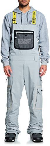DC Revival Bib Snowboard Pants Mens Sz L Neutral Grey