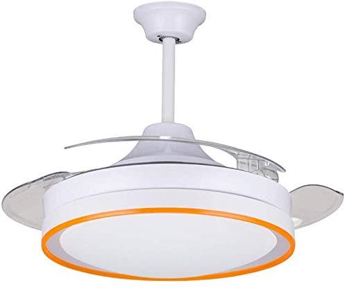 Onzichtbare plafondventilatoren met lamp moderne minimalistische ventilator kroonluchter slaapkamer stille ventilator hanglamp, afstandsbediening schakelaar -42 inch