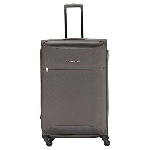 Kamiliant by American Tourister Zaka Polyester 78 cms Grey Softsided Check-in Luggage (KAM ZAKA SP 78 cm - GREY)