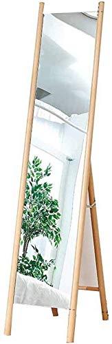 Moderne eenvoud opvouwbare staande spiegel vloergarderobe hout slaapkamer woonkamer werkkamer B B