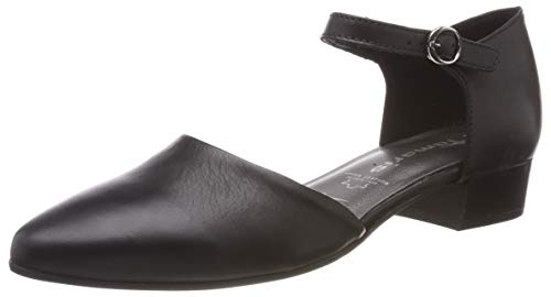 Tamaris Damen 1-1-24210-22 Slipper, Schwarz (Black Leather 3), 37 EU